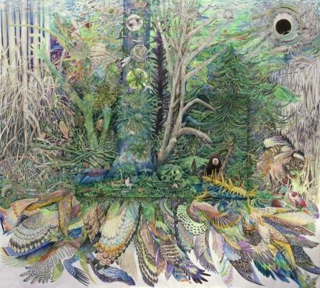 Постер на подрамнике Абстракция. Животные и птицы
