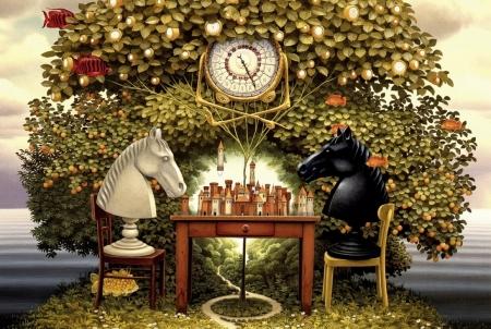 Модульная картина Яцек Йерка (Jacek Yerka) Шахматы