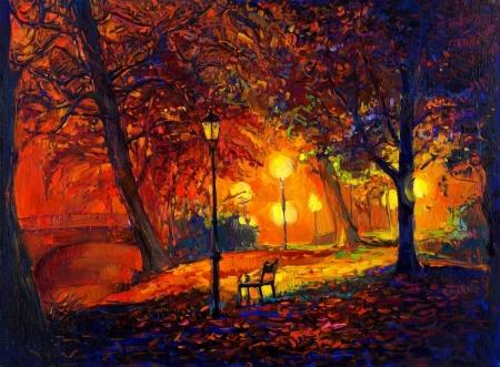 Постер на подрамнике Одинокая осень