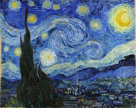 Постер на подрамнике Винсент Ван Гог. Звездная ночь