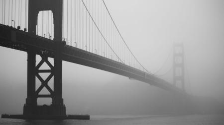 Постер (плакат) Мост. Туман