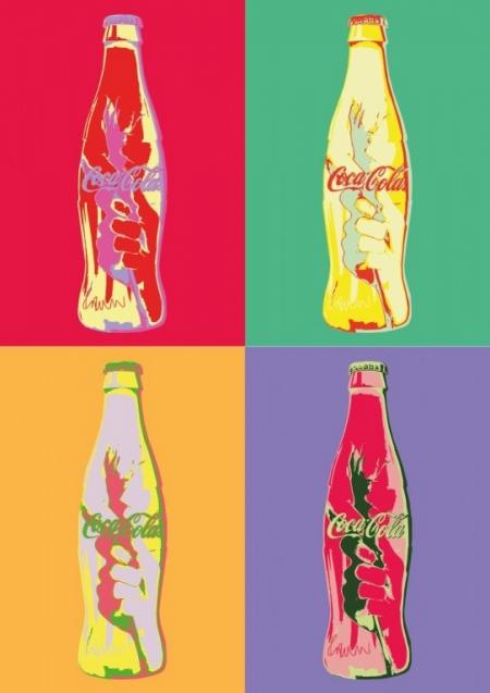 Постер (плакат) Coca-Cola. Поп-арт