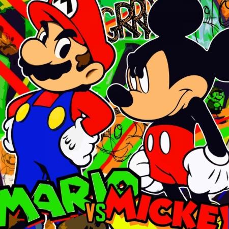 Постер (плакат) Марио и Микки. Поп-арт