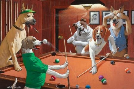 Постер (плакат) Игра в бильярд