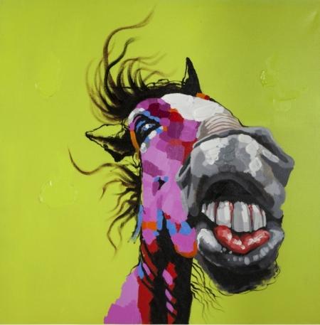 Постер на подрамнике Лошадь. Поп-арт
