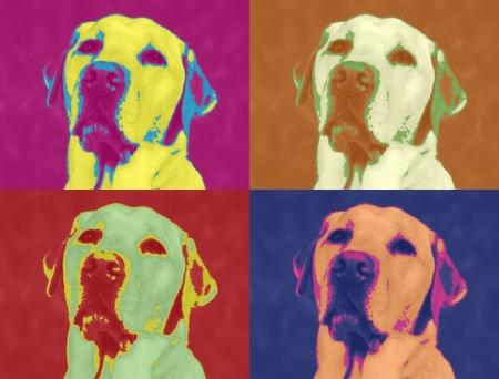 Постер на подрамнике Собака. Поп-арт