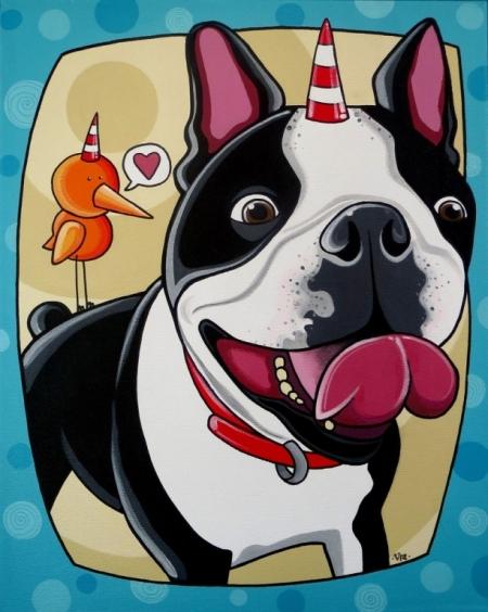 Постер (плакат) Собака. Поп-арт