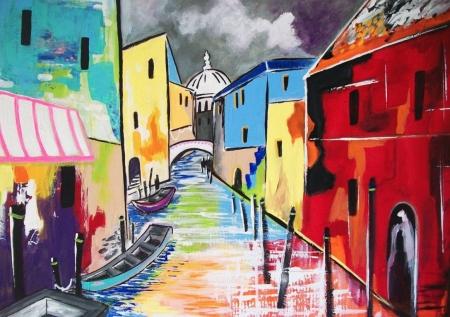 Постер на подрамнике Венеция. Италия. Поп-арт