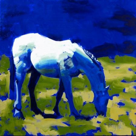 Постер на подрамнике Синяя лошадь