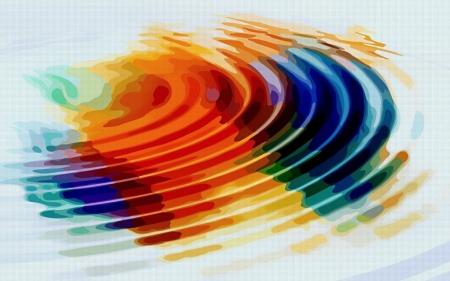 Модульная картина Разноцветные волны