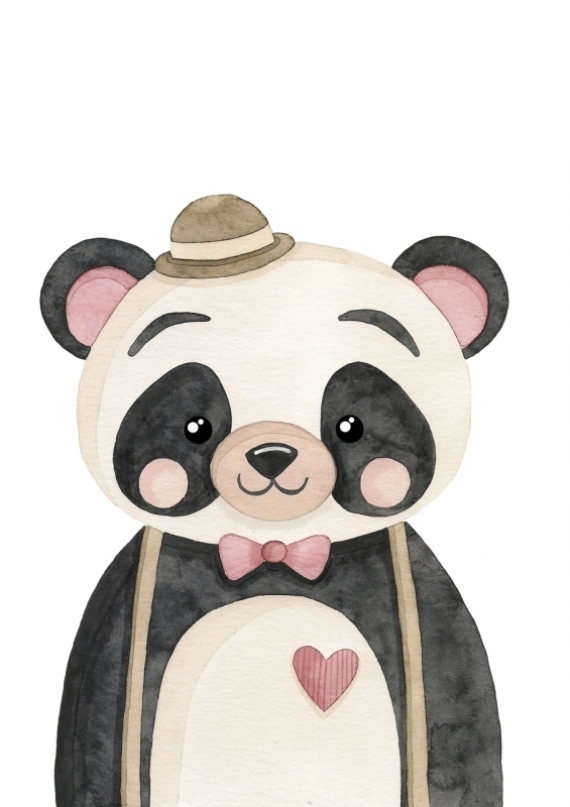 Постер (плакат) Панда