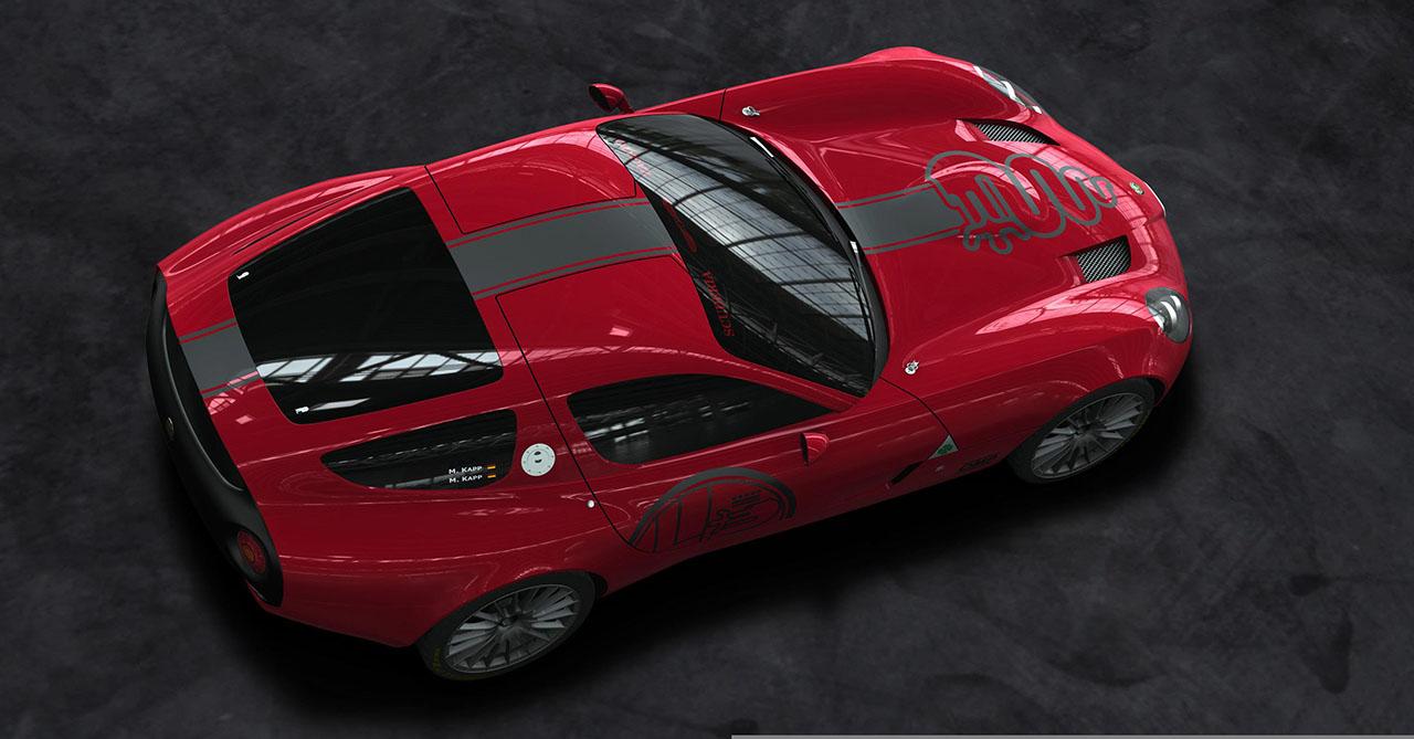 Плакат Alfa Romeo-305