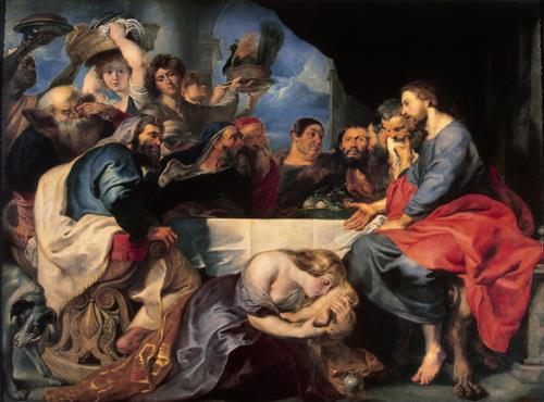 Постер на подрамнике Feast in the House of Simon the Pharisee