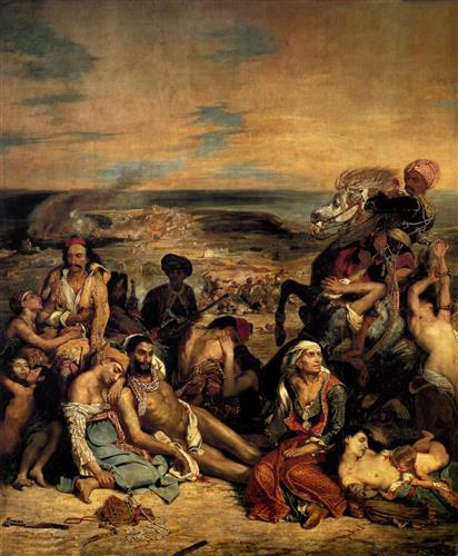 Постер на подрамнике The massacre at Chios
