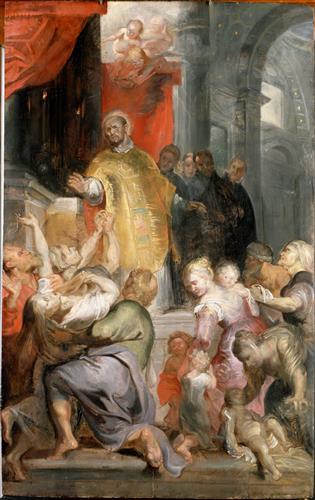 Постер на подрамнике The Miracles of Saint Ignatius of Loyola