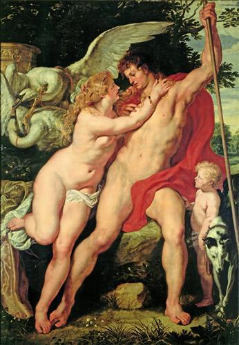 Плакат Венера и Адонис