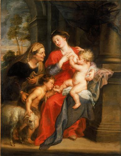Плакат The Virgin and Child with Sts. Elizabeth and John the Baptist