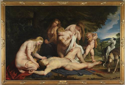 Плакат The Death of Adonis (with Venus, Cupid, and the Three Graces)