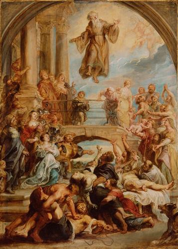 Постер на подрамнике The Miracles of Saint Francis of Paola