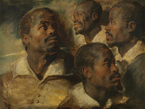 Постер на подрамнике Four Studies of a Head of a Moor