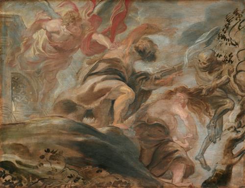 Плакат Expulsion from the Garden of Eden