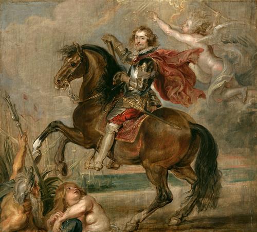 Плакат Equestrian Portrait of the Duke of Buckingham