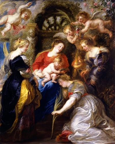 Постер на подрамнике Crowning of St Catherine