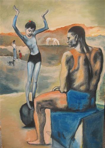 Постер на подрамнике Девочка на шаре
