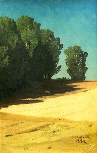 Постер на подрамнике Летний пейзаж
