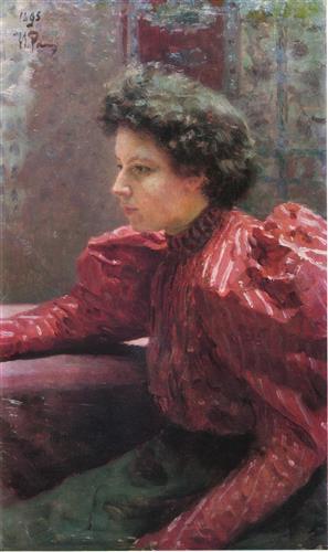 Плакат Портрет Н.И. РеЕпиной