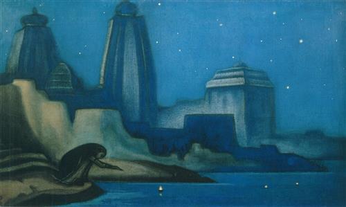 Плакат Огни на Ганге. 1947