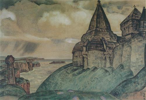 Плакат могила викинга. 1908