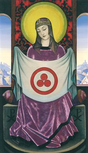 Плакат Мадонна орифламма