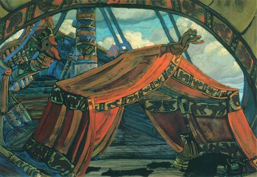 Плакат Корабль тристана.(декорация Тристан и изольда)
