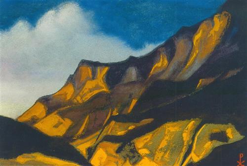 Плакат Кулута. Желто-лиловые горы