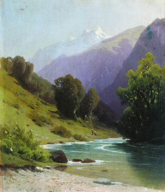 Постер на подрамнике Горный пейзаж