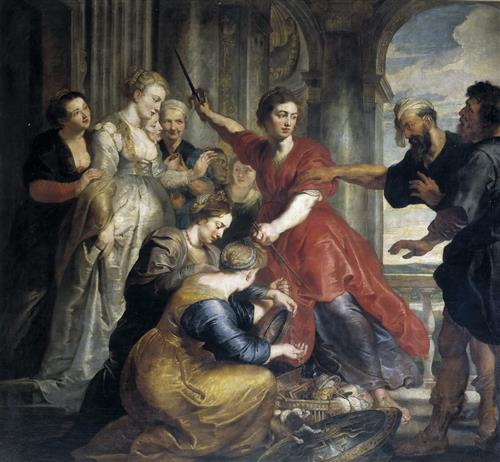 Плакат Ахиллес среди дочерей Ликомеда