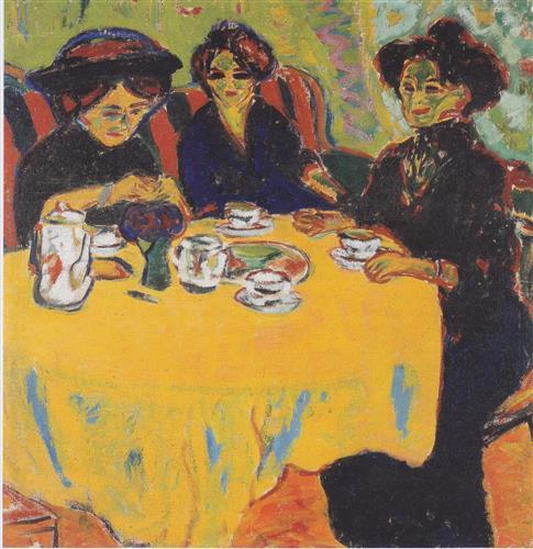 Плакат coffee-drinking-women