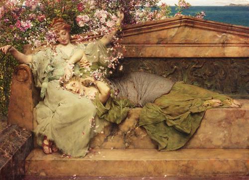 Постер на подрамнике In The Rose Garden