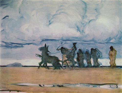 Постер на подрамнике Одисеей и Навзикая