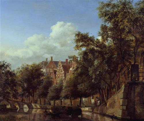Плакат Amsterdam near Herengracht