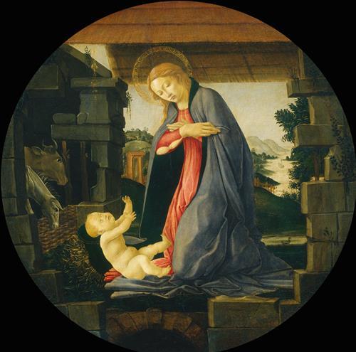 Плакат The Virgin Adoring the Child