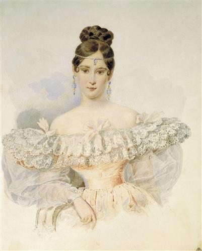 Постер на подрамнике Портрет Натальи Гончаровой