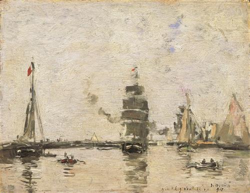 Постер на подрамнике Boats in Trouville Harbor