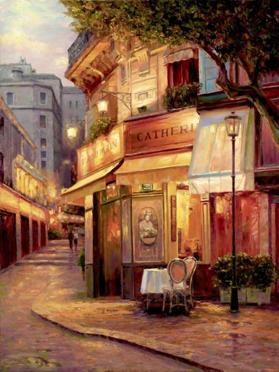 Постер на подрамнике Night of Paris