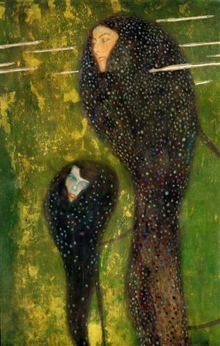 Плакат Ундины, серебряные рыбы