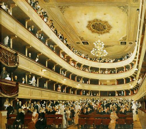 Постер на подрамнике Зал старого дворцового театра в Вене