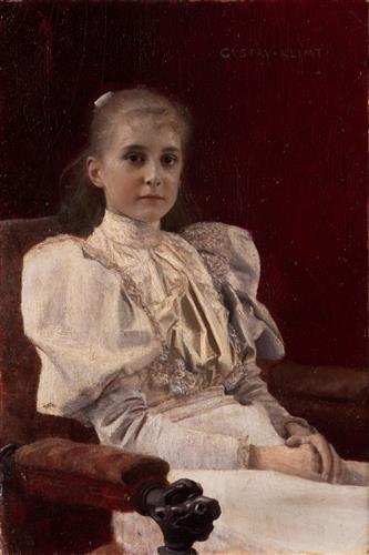 Плакат Sitzendes junges Madchen