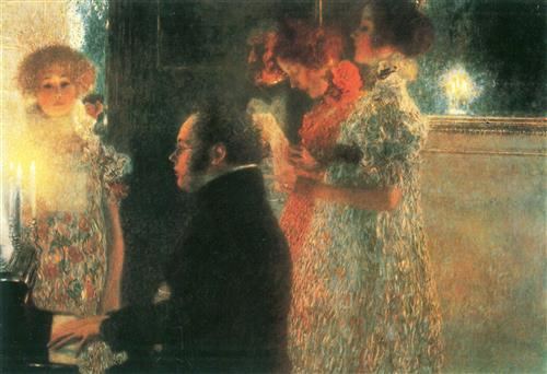 Постер на подрамнике Schubert at the Piano
