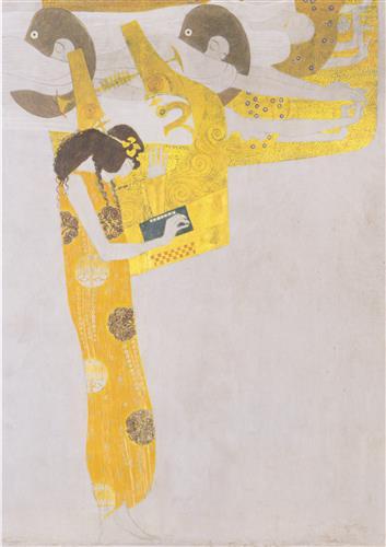 Постер на подрамнике beethoven frieze